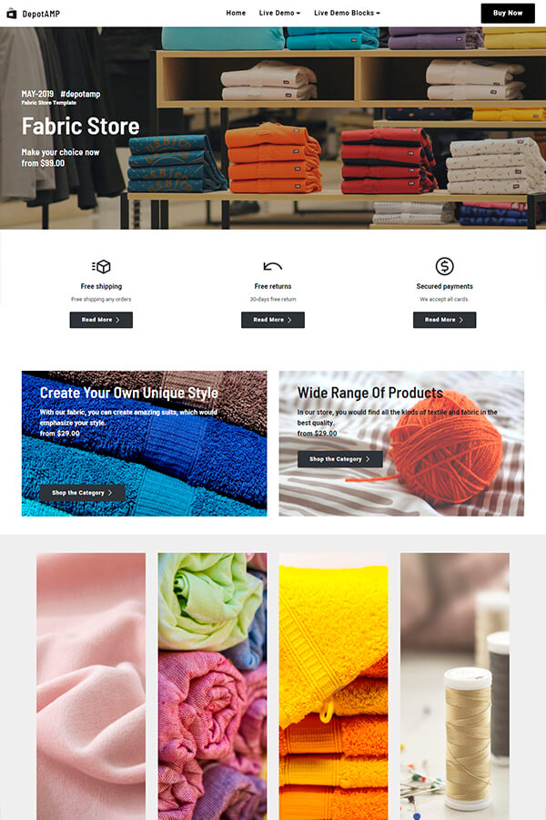 Fabric Store Site Design