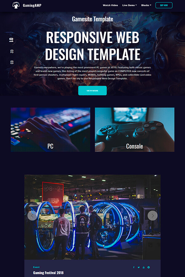 Responsive Game Design Template