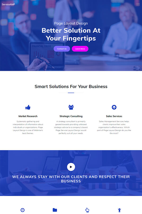 Service Page Layout Design