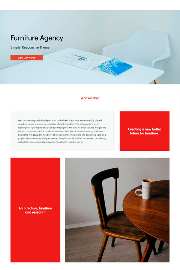 Furniture Agency Responsive Theme