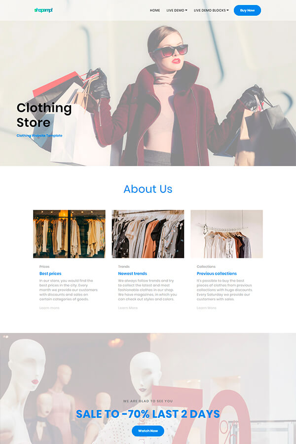 Clothing Website Template