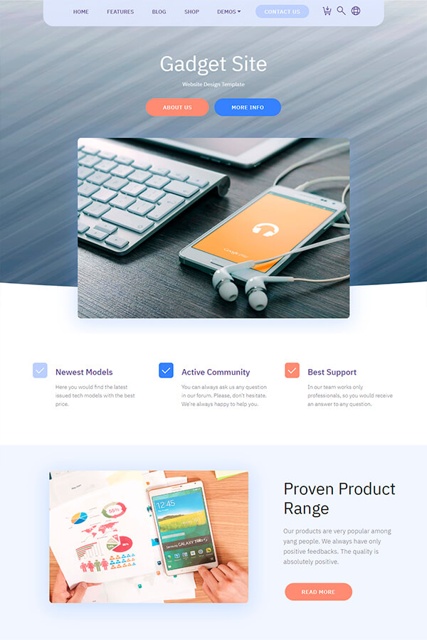 Gadget Website Design Template